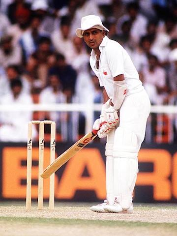 "Sunil Gavaskar (in pic) of India and West Indies' Viv Richards: Gavaskar, normally an opener, had decided to bat at number four, but Malcolm Marshall dismissed Anshuman Gaekwad and Dilip Vengsarkar for ducks, setting the stage for Gavaskar to walk in at 0-2. Richards said: ""Man, it don't matter where you come in to bat, the score is still zero."""