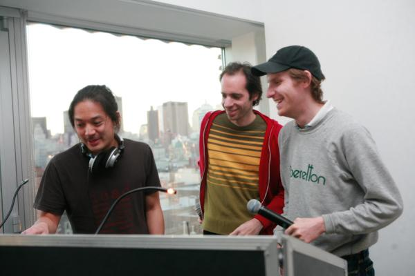 Photo credit: From left to right: Howie Chen, Alan Licht, and Cory Arcangel.