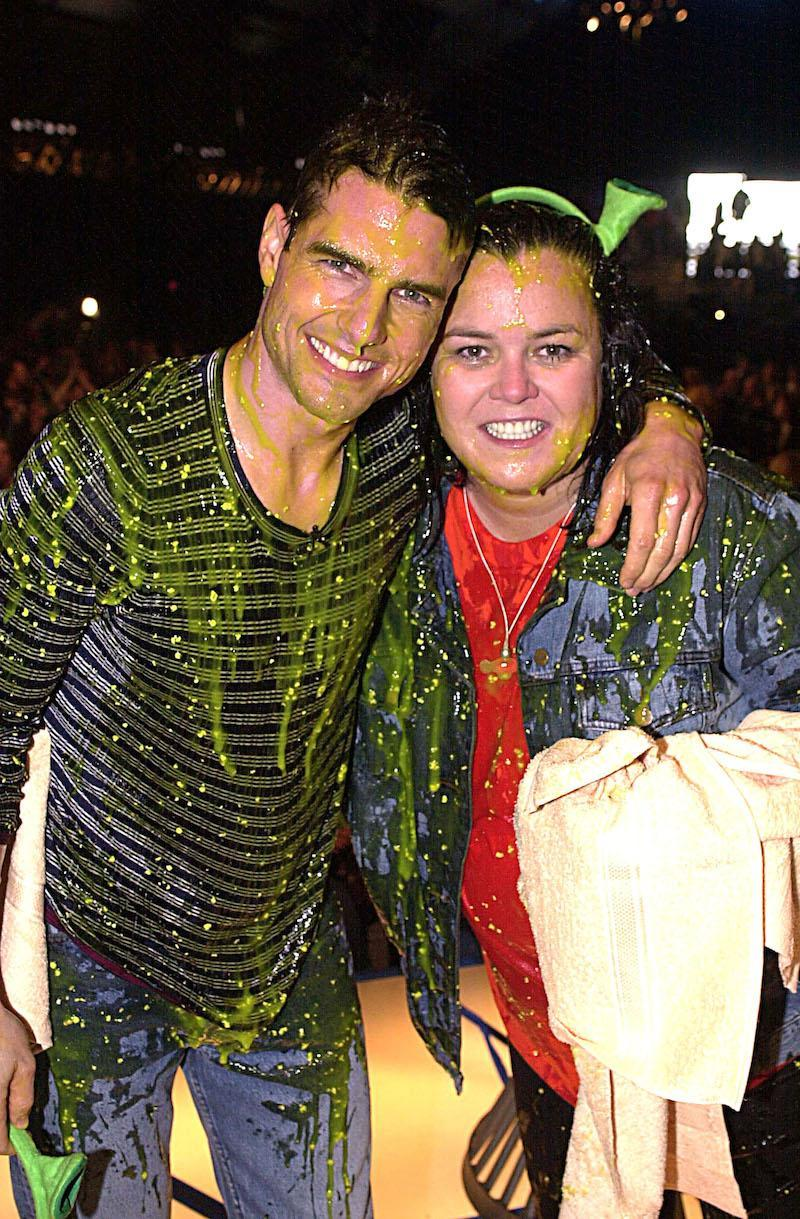 Tom Cruise & Rosie O'Donnell during The 14th Annual Kids Choice Awards - Live Show at Barker Hanger in Santa Monica, California, United States. (Photo by Jeff Kravitz/FilmMagic, Inc)