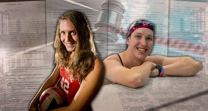 Chloe Anderson and Natalie Fahey (Graphic by Michael Wagstaffe)