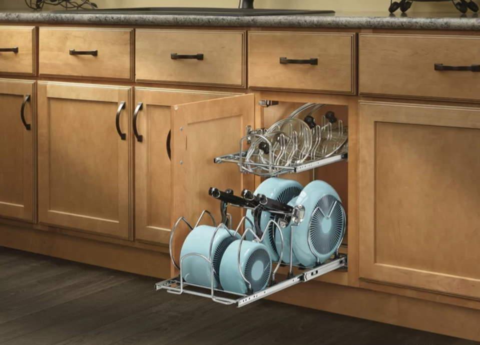 You'll finally be able to find those evasive pot lids. (Photo: Wayfair)