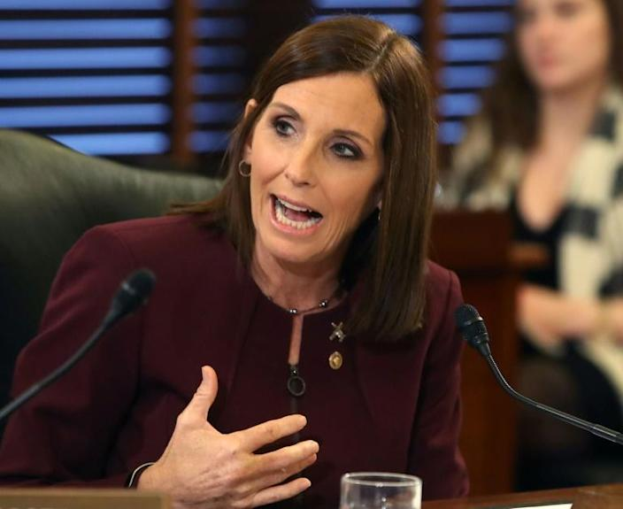 Republican Senator Martha McSally, an Air Force veteran of Middle East conflicts, called President Donald Trump's policy toward the Kurds 'just plain wrong' (AFP Photo/MARK WILSON)