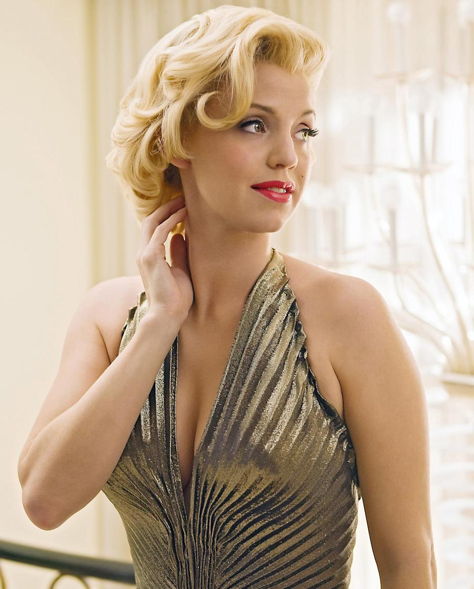 """<p>Garner played Monroe in the 2015 miniseries, <em>The Secret Life of Marilyn Monroe. </em>Garner told <a href=""""https://www.today.com/video/kelli-garner-talks-the-secret-life-of-marilyn-monroe-454408259809"""" rel=""""nofollow noopener"""" target=""""_blank"""" data-ylk=""""slk:Today"""" class=""""link rapid-noclick-resp""""><em>Today</em></a> that she was """"extremely apprehensive"""" to take on the role. """"It's Marilyn Monroe, you know? Those are really, really big shoes. And I wasn't sure if I could pull it off."""" </p>"""