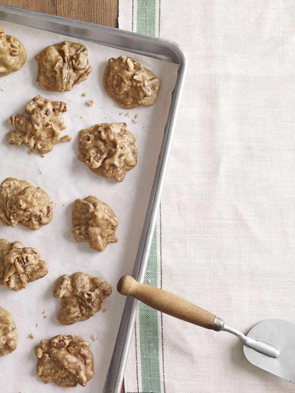 """<p>No Mardi Gras fete's menu would be complete without a pecan-filled treat, and these pralines hit the spot after a spicy meal.</p><p><em><a href=""""https://www.goodhousekeeping.com/food-recipes/a10567/pecan-pralines-recipe-clv0212/"""" rel=""""nofollow noopener"""" target=""""_blank"""" data-ylk=""""slk:Get the recipe for Pecan Pralines »"""" class=""""link rapid-noclick-resp"""">Get the recipe for Pecan Pralines »</a></em></p>"""