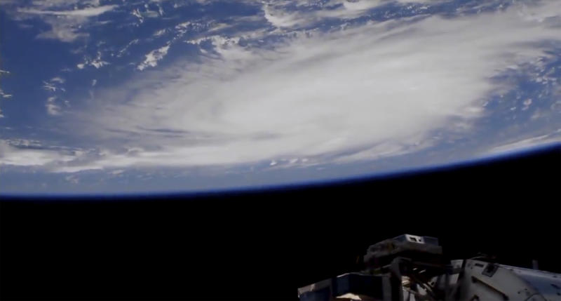 This Thursday, Aug. 29, 2019 image provided by NASA shows a view of Hurricane Dorian from the International Space Station as it churned over the Atlantic Ocean north of Puerto Rico. (Photo: NASA via AP)