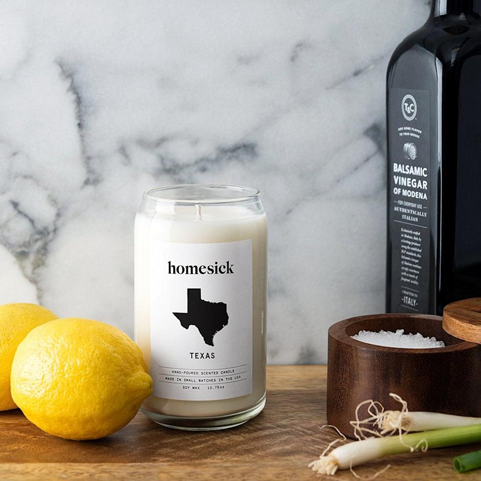 <p>You can really never have enough <span>candles</span> ($30), and for someone who may have moved far from home, this will always remind them of it. </p>