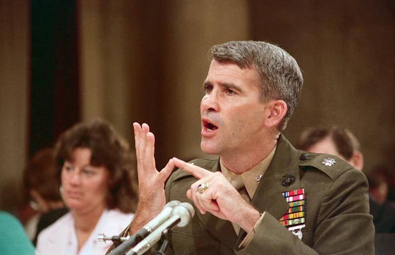 North, during his public testimony before the Iran-Contra committee, said he assumed President Ronald Reagan approved the diversion of Iran arms-sales profits to Nicaraguan rebels.