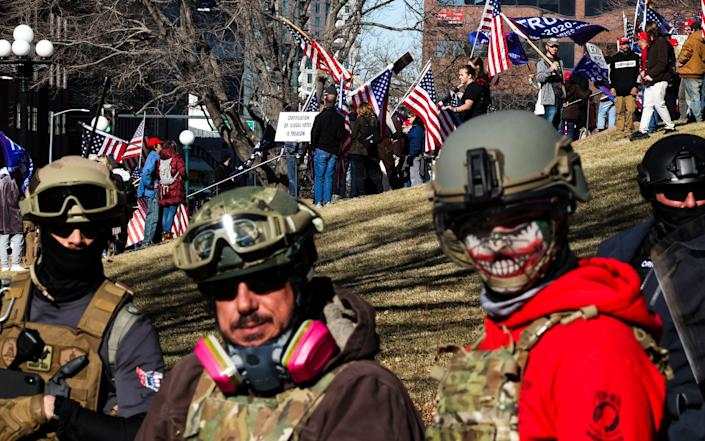 Donald Trump supporters protest the election outside the Colorado State Capitol in Denver, Colorado - Michael Ciaglo /Getty Images North America