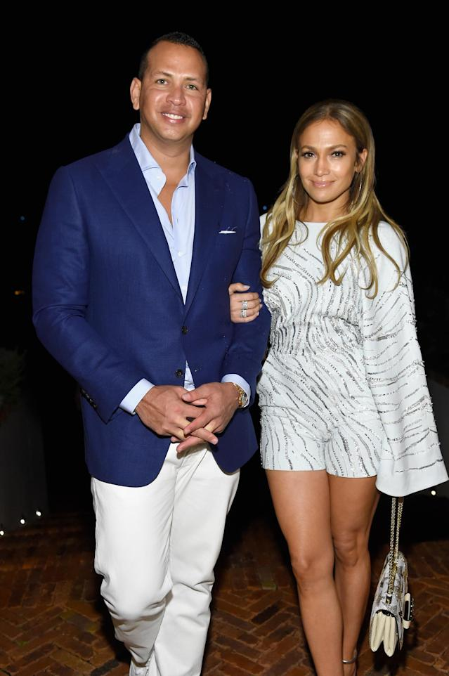 "<p>There's no question that Jennifer Lopez is insanely beautiful. However, if you ask her retired-baseball-player boyfriend, A-Rod, he'll tell you that the pop star is ""sexy AF,"" which is <a href=""https://www.yahoo.com/lifestyle/jennifer-lopez-reveals-apos-sexy-111839484.html"" data-ylk=""slk:what he text-messaged her during their first dinner together;outcm:mb_qualified_link;_E:mb_qualified_link"" class=""link rapid-noclick-resp newsroom-embed-article"">what he text-messaged her during their first dinner together</a>, according to a new <em>Vanity Fair</em> profile. Surprisingly enough, neither of them was sure it was a date, but after some clarification — in part, thanks to that silly text — they've been inseparable since. (Photo: Getty Images) </p>"