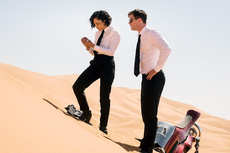 Tessa Thompson and Chris Hemsworth in 'Men in Black: International' (Photo: Giles Keyte / © Columbia Pictures / courtesy Everett Collection)