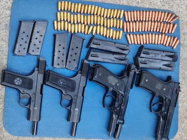 Arms and ammunition recovered from Pulwama district.