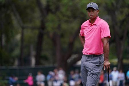 Mar 10, 2018; Palm Harbor, FL, USA; Tiger Woods looks on from the 13th green during the third round of the Valspar Championship golf tournament at Innisbrook Resort - Copperhead Course. Mandatory Credit: Jasen Vinlove-USA TODAY Sports