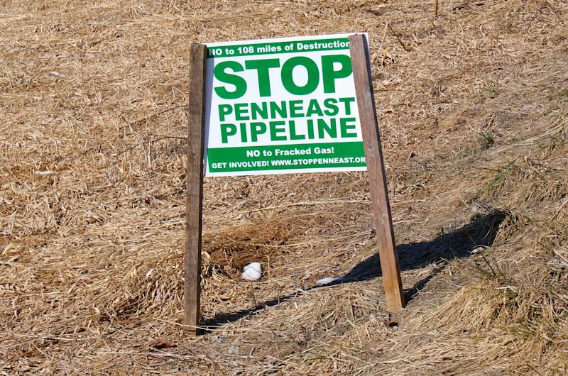 A closeup of yet another Stop PennEast pipeline sign on Durham Road in Durham, Pa. (Photo: Courtesy of Mike Spille)