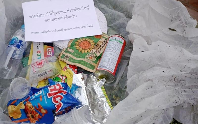 Photos of the rubbish parcels were posted on the environment minister's Facebook page - Varawut Silpa-Archa/EPA-EFE/Shutterstock