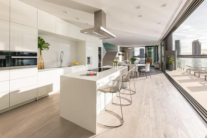 The Arkup's kitchen area feels like it could easily be found in a contemporary land-based home.