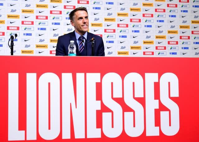 Phil Neville will stand down as England Women's manager next year (Ian West/PA)