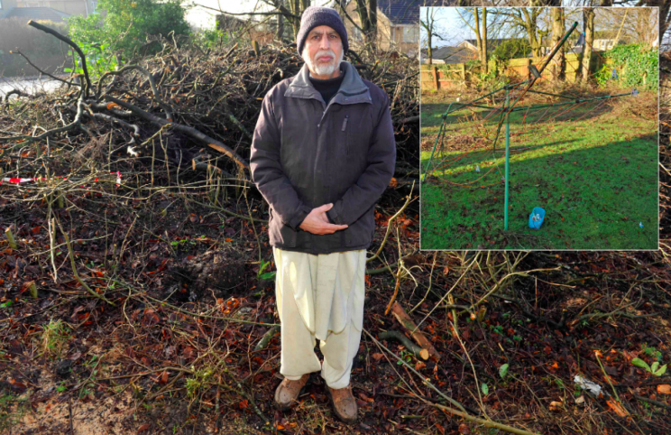 The homeowner's request to have the trees cut down was refused (SWNS)