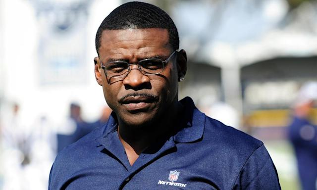 "<span class=""element-image__caption"">Michael Irvin currently works as an analyst for the NFL Network.</span> <span class=""element-image__credit"">Photograph: Gus Ruelas/AP</span>"