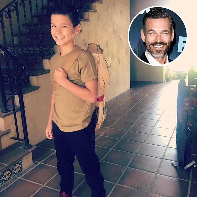 "<p>Dad-of-two Eddie Cibrian was proud to see his younger, lookalike son (with ex Brandi Glanville) head off for ""his last year of elementary school!!"" (Photos: <a href=""https://www.instagram.com/p/BYJnk6eAmVZ/?hl=en&taken-by=eddiecibrian"" rel=""nofollow noopener"" target=""_blank"" data-ylk=""slk:Eddie Cibrian via Instagram"" class=""link rapid-noclick-resp"">Eddie Cibrian via Instagram</a>/Getty Images)<br><br></p>"