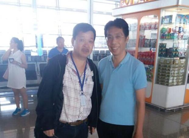 Activist Peter Chong (pictured right) has been reunited with his family, according to the police. — Picture courtesy of Twitter/ KBAB51