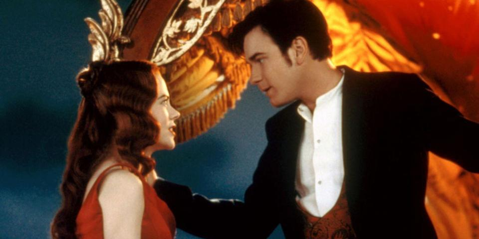 "<p>Lights, camera, swoon over the final installment in Baz Luhrmann's Red Curtain trilogy. A highly stylized musical set in Paris that we can only imagine had an unlimited budget when it came to rhinestones, the film stars Nicole Kidman as a glittery courtesan alongside Ewan McGregor, the poet who loves her. <a class=""link rapid-noclick-resp"" href=""https://www.amazon.com/dp/B000SVZIDA?tag=syn-yahoo-20&ascsubtag=%5Bartid%7C10056.g.6498%5Bsrc%7Cyahoo-us"" rel=""nofollow noopener"" target=""_blank"" data-ylk=""slk:Watch Now"">Watch Now</a></p>"