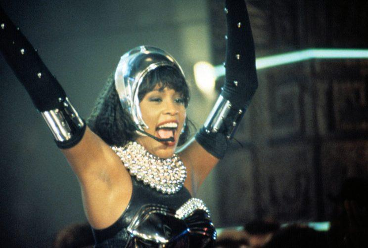 Whitney Houston dripping in pearls in