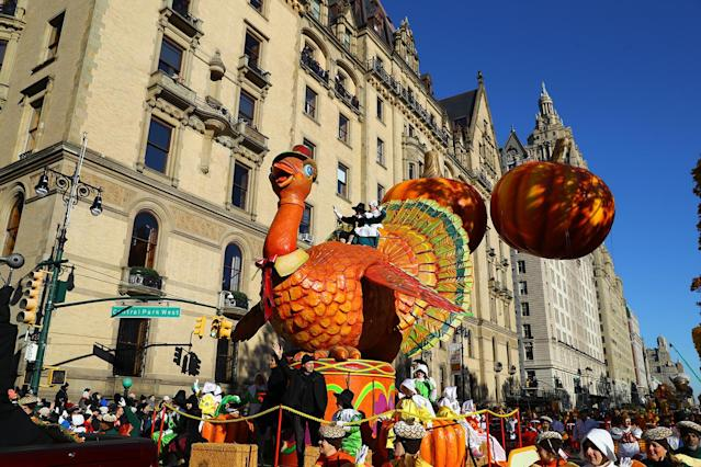"<p>Bravo's ""Top Chef"" Tom Turkey float in the 91st Macy's Thanksgiving Day Parade in New York, Nov. 23, 2017. (Photo: Gordon Donovan/Yahoo News) </p>"