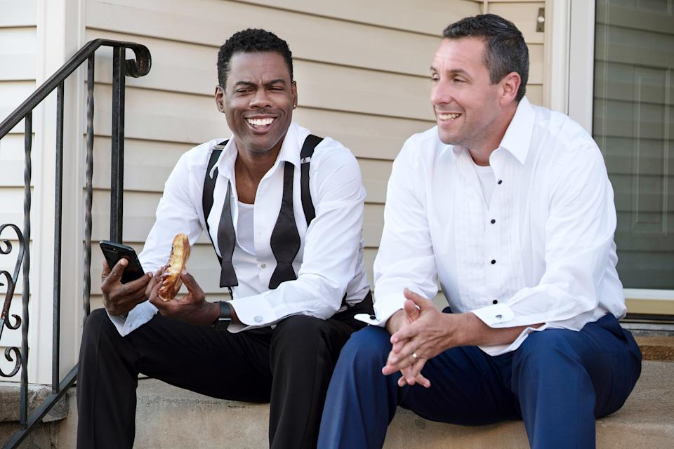 THE WEEK OF, from left: Chris Rock, Adam Sandler, 2018. ph: Macall Polay /© Netflix /Courtesy Everett Collection
