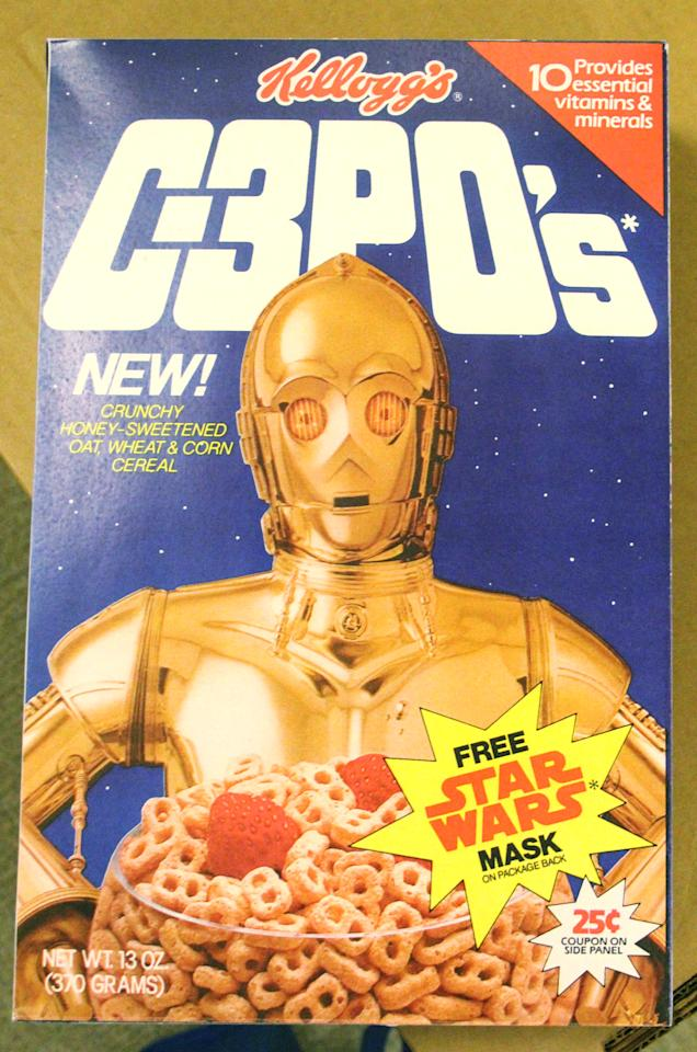 "<p>One of the many, many, many, many <a rel=""nofollow"" href=""https://www.yahoo.com/entertainment/tagged/star-wars""><em>Star Wars</em></a> tie-ins. Introduced in 1984. (Photo: Cerealously.com) </p>"