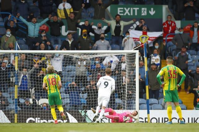 Leeds supporters' watched Premier League football at Elland Road again for the first time in 17 years and witnessed a comfortable 3-1 win over West Brom with Patrick Bamford on target