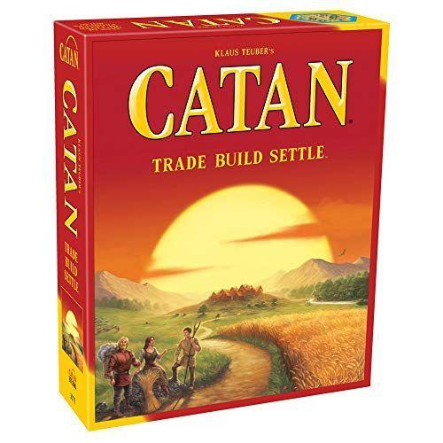 """<p><strong>Catan Studio</strong></p><p>amazon.com</p><p><strong>$42.94</strong></p><p><a href=""""https://www.amazon.com/dp/B00U26V4VQ?tag=syn-yahoo-20&ascsubtag=%5Bartid%7C10063.g.37665315%5Bsrc%7Cyahoo-us"""" rel=""""nofollow noopener"""" target=""""_blank"""" data-ylk=""""slk:Shop Now"""" class=""""link rapid-noclick-resp"""">Shop Now</a></p><p>You'll quickly learn in Catan that wealth is found in whoever has an abundance of resources — hay, rock, clay and wood. It's a game of strategy as much as it is luck. The game ends when a player receives ten victory points, which can be won in various ways including whoever has the longest road. Off the board, unofficial alliances will form where players can trade for resources, so it's best to keep your frenemies close! </p>"""