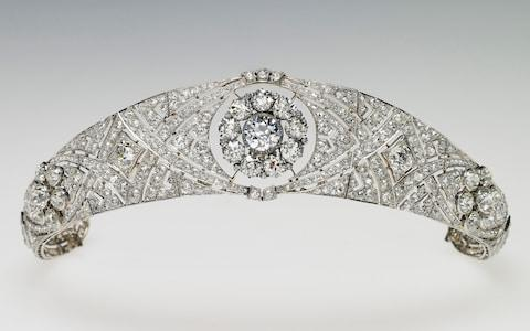 Queen Mary's Diamond Bandeau, which is being worn by Meghan Markle for her wedding to Prince Harry - Credit:  PA/Royal Collection Trust