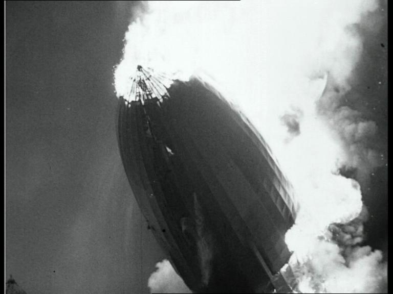 1937: Hindenburg disaster raw footage