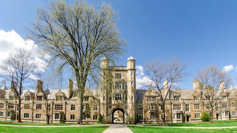 """The Campus of the University of Michigan Law School in Ann Arbor is also known as """"The Law Quad"""" or """"The Law Quadrangle""""."""
