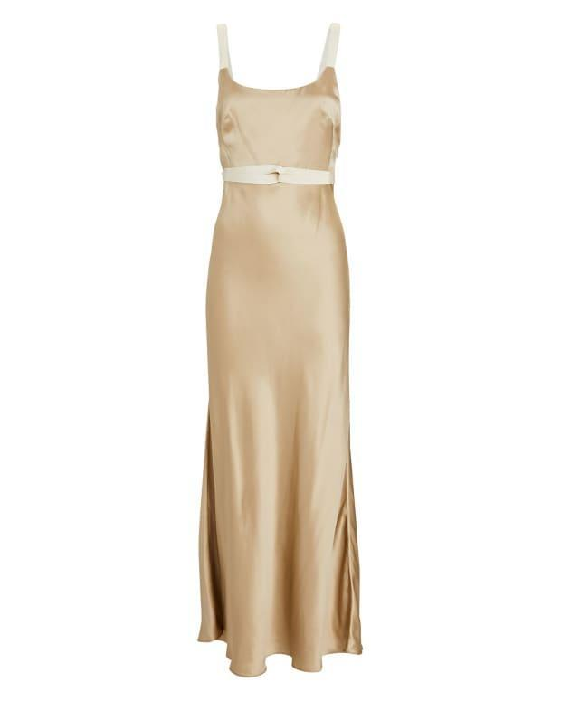 """<p>Brock Collection Tamara Satin Slip Maxi Dress, $1,090, <a href=""""https://rstyle.me/+3HiIuBkf_ndIHZnvLdEAhA"""" rel=""""nofollow noopener"""" target=""""_blank"""" data-ylk=""""slk:available here"""" class=""""link rapid-noclick-resp"""">available here</a> (sizes US 0-8). </p>"""