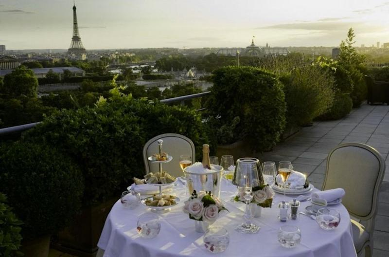 Dogs that are checked in to the Le Meurice in Paris get a complimentary pet basket, a special food menu. Source: Grand Luxury Hotels