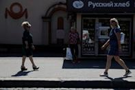 Women walk in the city centre of Kaliningrad, Russia, June 28, 2018. REUTERS/Kacper Pempel