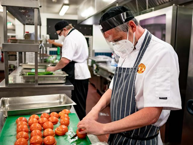 Manchester United staff have been making meals to distribute (Handout)