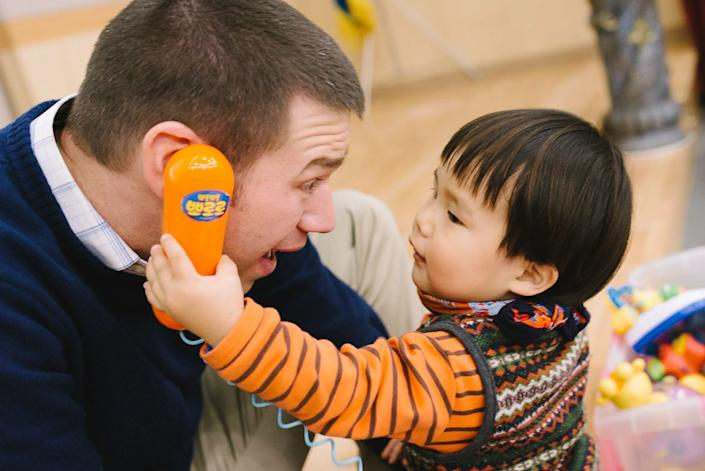 """""""I first met Lori and Steve shortly after their arrival in Seoul, and despite the jet lag, they were palpably excited to be here and meeting <a href=""""http://www.welkinlight.com/seoul-adoption-photography-davis/"""" target=""""_blank"""">their son, Davis</a>."""" -- Dylan Goldby"""