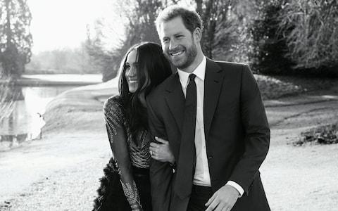 Prince Harry and Meghan Markle at Frogmore House - Credit:  REUTERS