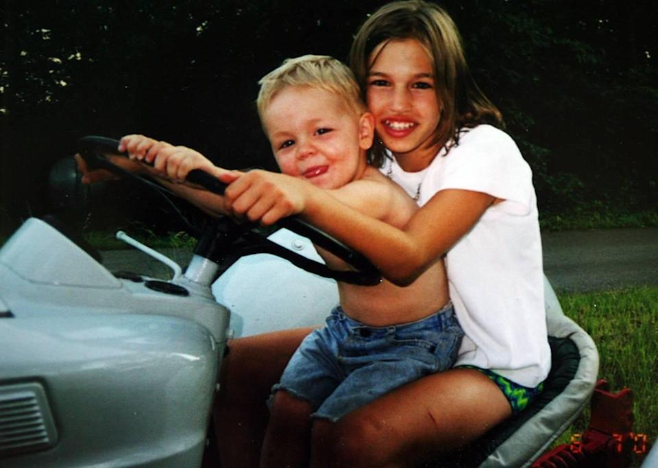 Kara Kopetsky and her little brother, Thomas.
