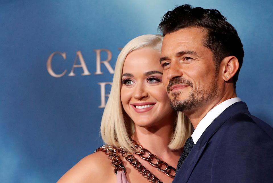 "Cast member Orlando Bloom and singer Katy Perry attend the premiere for the television series ""Carnival Row"" in Los Angeles, California, U.S., August 21, 2019. REUTERS/Mario Anzuoni"