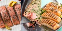 """<p><a href=""""https://www.delish.com/uk/cooking/a29422795/how-to-cook-salmon/"""" rel=""""nofollow noopener"""" target=""""_blank"""" data-ylk=""""slk:Salmon"""" class=""""link rapid-noclick-resp"""">Salmon</a> is a top-tier ingredient, and we're obsessed with how flavourful it is. And like chicken, it contains barely ANY carbs, which is why it's perfect when you decide to go low carb. Think <a href=""""https://www.delish.com/uk/cooking/recipes/a29204888/easy-poached-salmon-recipe/"""" rel=""""nofollow noopener"""" target=""""_blank"""" data-ylk=""""slk:Poached Salmon"""" class=""""link rapid-noclick-resp"""">Poached Salmon</a>, <a href=""""https://www.delish.com/uk/cooking/recipes/a30712008/slow-cooker-salmon-recipe/"""" rel=""""nofollow noopener"""" target=""""_blank"""" data-ylk=""""slk:Slow Cooker Salmon"""" class=""""link rapid-noclick-resp"""">Slow Cooker Salmon</a> and even <a href=""""https://www.delish.com/uk/cooking/recipes/a29844282/best-grilled-salmon-fillets-recipe/"""" rel=""""nofollow noopener"""" target=""""_blank"""" data-ylk=""""slk:Coriander Lime Grilled Salmon"""" class=""""link rapid-noclick-resp"""">Coriander Lime Grilled Salmon</a>. So, if you need some low carb salmon ideas, you've come to the right place! Check out our favourites now. </p>"""