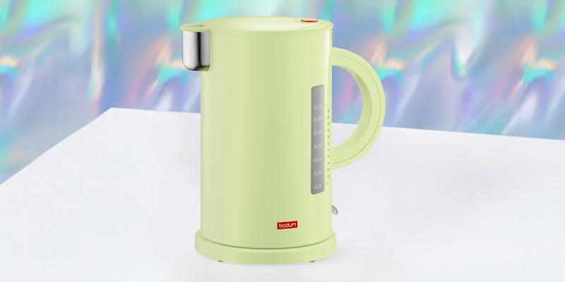 Fans of the spirited Memphis design movement know that original designs from the '70s and '80s don't come cheap. The one exception is this electric tea kettle designed by one of the founders, Ettore Sottsass, in 1988 that has been reissued by Bodum for the modern kitchen. SHOP NOW: Ettore electric kettle by Bodum, $29, bodum.com