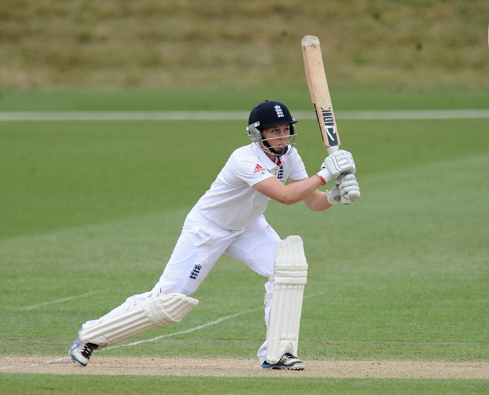 England's Heather Knight bats during day four of the First Women's Ashes test match at Wormsley Cricket Ground, High Wycombe.