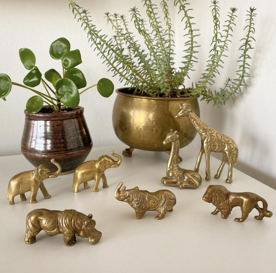 Boho Brass T.O: Brass figurines and collectibles for your home (Image via Boho Brass T.O)