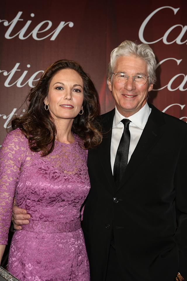 PALM SPRINGS, CA - JANUARY 05:  Actors Diane Lane (L) and Richard Gere arrive in style with Mercedes-Benz at the Palm Springs International Film Festival at the Palm Springs Convention Center on January 5, 2013 in Palm Springs, California.  (Photo by Chelsea Lauren/Getty Images for Mercedes-Benz)
