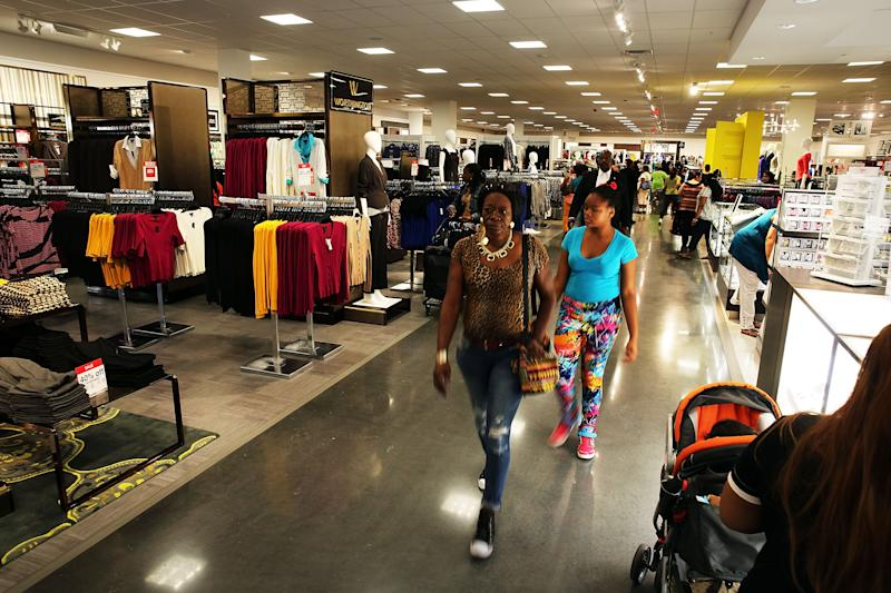 Customers shop at the newly opened J.C. Penney store at the Gateway Center Mall in Brooklyn, the retail company's first Brooklyn store on August 29, 2014 in New York City
