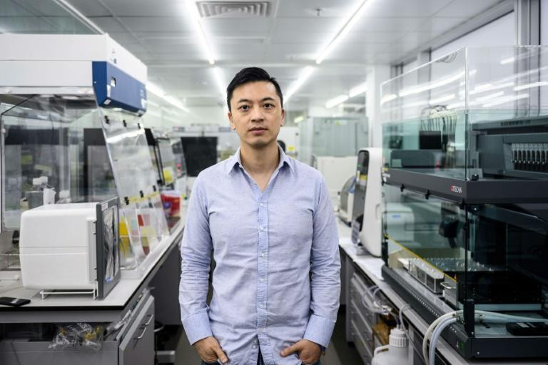 Danny Yeung is co-founder and CEO of Hong Kong's Prenetics/Circle DNA (AFP Photo/Anthony WALLACE)