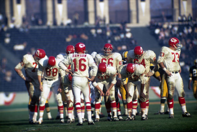 The Chiefs trailed 14-10 at halftime of Super Bowl I but lost to the Green Bay Packers 35-10. (1967 Kidwiler Collection/Diamond Images)